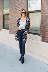 Leopard Two Pocket Cardigan - Amaryllis Land