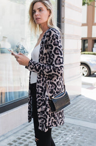 Leopard Two Pocket Cardigan