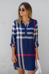 Polished Playful Plaid Dress - Amaryllis Land