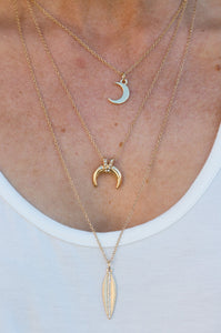Crescent Moon Layered Necklace - Amaryllis Land