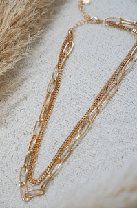 Dripping in Gold Necklace Set