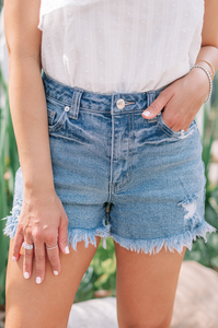 Not So Cheeky Denim Shorts