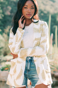 Beneath the Palms Linen Blazer