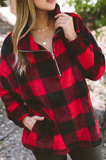 Check Back Later Plaid Pullover