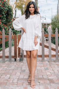 Love Laila Eyelet Mini Dress