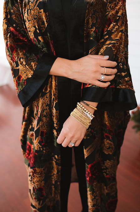 Feelin' Fall Velvet Floral Duster