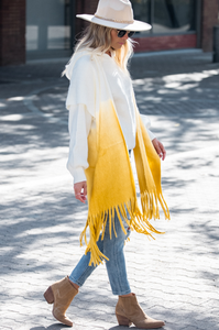 Cottonwood Ombre Tassel Poncho