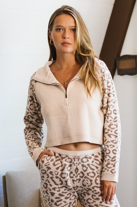 CloudKnit Cropped Half Zip