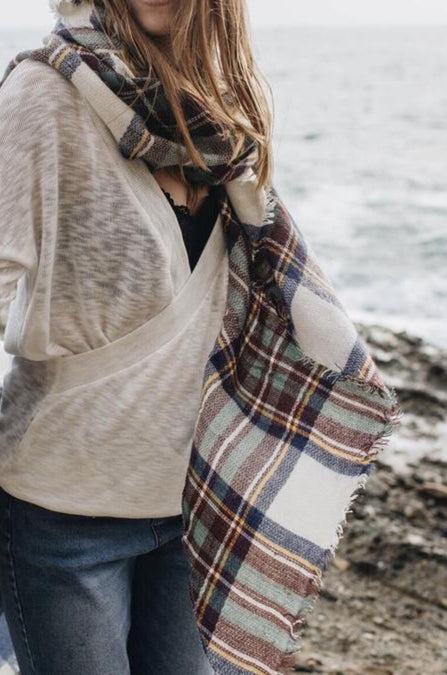 All Plaid Out Scarf - Amaryllis Land