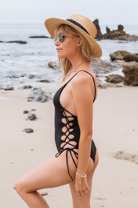 Lace Up One Piece - Amaryllis Land