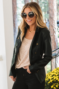 Faux Real Leather Jacket