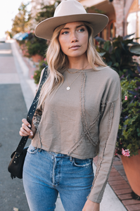 Dani Distressed Seam Pullover