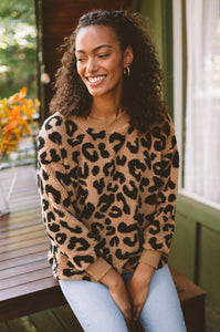 Wild About It Leopard Pullover