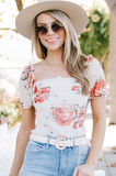 What In Carnation Mesh Top