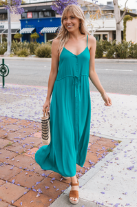 Telia Button Maxi Dress - Amaryllis Land