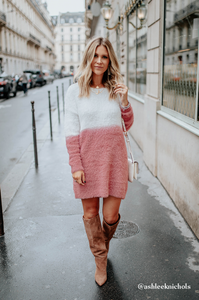 Rosé Sweater Dress