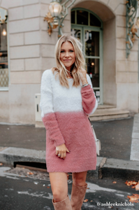 Rosé Sweater Dress - Amaryllis Land