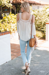 Athens Cold Shoulder Top - Amaryllis Land