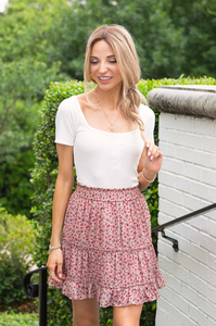 Floral Affair Ruffle Skirt