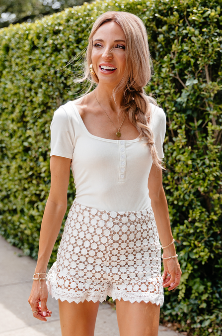 Friday Crochet Ruffle Shorts