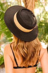 All Natural Boater Hat - Amaryllis Land