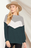 Tell Me About Knit Chevron Sweater