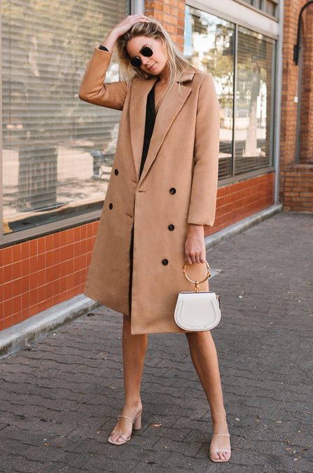 Seville Wool Coat - Amaryllis Land
