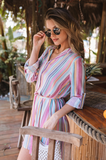 Selena Striped Dress - Amaryllis Land
