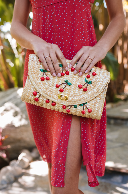 Woven Cherries Bag - Amaryllis Land