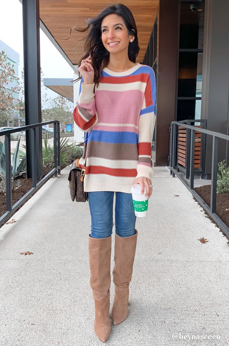 Smartie Stripe Sweater - Amaryllis Land