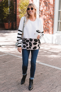 Vanilla Bean Leopard Sweater - Amaryllis Land
