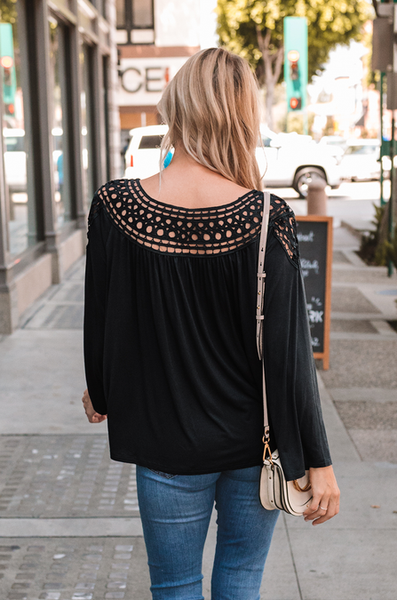 Millie Crochet Blouse - Amaryllis Land