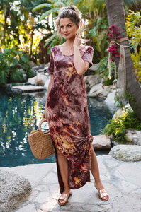 Demi Dyed Maxi Dress - Amaryllis Land