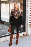 Chevron Leopard Sweater - Amaryllis Land