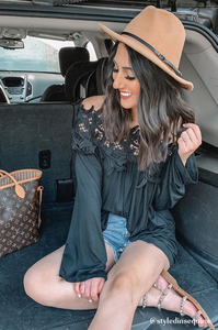 Lacy Off-The-Shoulder Top
