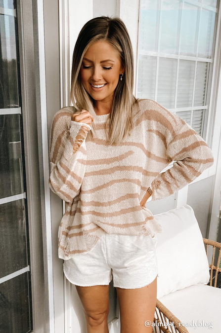 Distressed Tiger Sweater