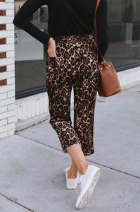 Lounging Leopard Pants - Amaryllis Land