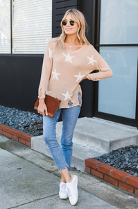 Distressed Starry Eyed Sweater