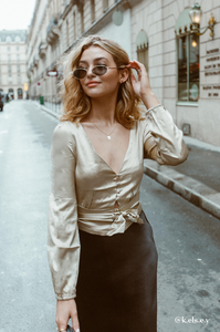 Bubbly 100% Silk Blouse