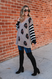 Love Me Leopard Sweater - Amaryllis Land