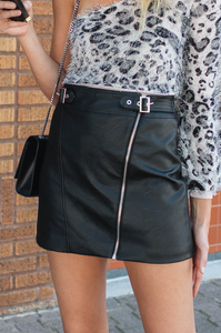 Rodney Leather Skirt