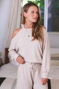 Meeka Cold Shoulder Sweater