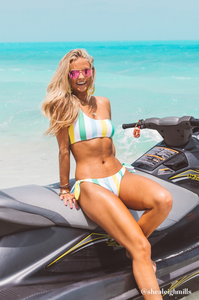 Bahamas One Shoulder Bikini - Amaryllis Land