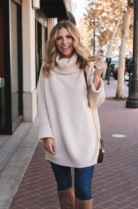White Mocha Sweater - Amaryllis Land