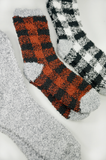 Buffalo Check Fuzzy Socks