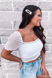 Vanessa Crochet Crop Top