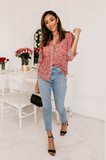Flower Fields Button-Up Blouse - Amaryllis Land