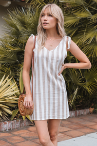 Sandy Days Linen Dress - Amaryllis Land