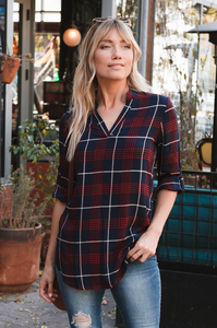 Sedona Plaid Top