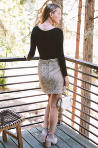 Manhattan Tweed Skirt
